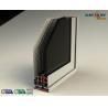 China Color Coated Aluminum Extrusion Profiles , Customized Door Frame Profiles wholesale