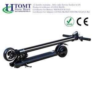 China Adult Foldable Mini Kick Carbon Fiber Stand Up Electric Scooter Aluminum Alloy Food Pad Black wholesale