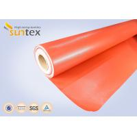 China Red Silicone Coated Fiberglass Fabric Fire Barrier Fabric For Heat Resistant Insulation wholesale