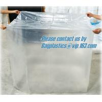China wholesale pe plastic bag of waterproof pallet covers, Reusable Waterproof Plastic PVC Pallet Cover,100% Polyester
