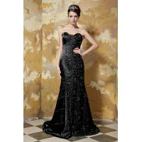 China Luxurious Sweetheart Mermaid Black Long Evening Dress 2013 New Designer Party Gown Lace wholesale