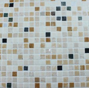 China Washroom Bathroom Backsplash Tile Square Pattern Marble Stone Mosaics wholesale