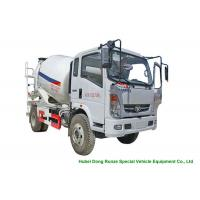 China HOMAN 4x2 Mobile Concrete Mixer Truck For Transport With 4m3 Load Capacity wholesale
