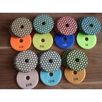 China Two Kinds 4 Inch 7 Steps Dry Diamond Polishing Pads Honey Cone For Granite wholesale