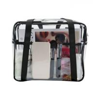 China Ladies Clear PVC Handbags Waterproof Transparent With Customized Sewing Printing wholesale