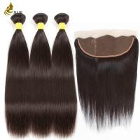 8a 1b Color Malaysian Straight Virgin Hair With 13 * 4 Frontal Lace Closure for sale