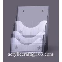 China Acrylic wall mount document holder, A5 size acrylic brochure holder on sale