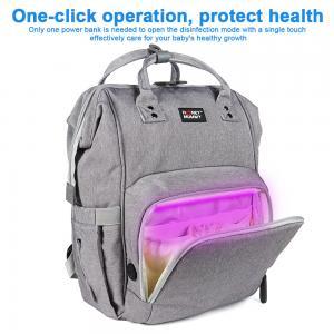 China 300D PU Cation Nursing Bottle LED UV Disinfection Mummy Bag wholesale