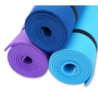 China Outdoor Fitness Padded PVC Yoga Mat Exericse Gym Mat , Biodegradable / Recyclable wholesale