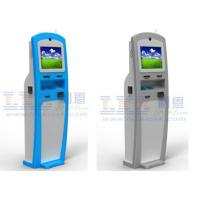 China 19'' Interactive Information Ticket Vending Machine , Coin Payment Kiosk on sale