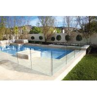 China Polished Edges Low E Glass Pool Safety Fence With ASTM Standard wholesale