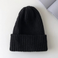 China Candy Colors Women Knitted Beanie Hats Warm Kpop Style Wool wholesale