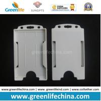China White Hard Plastic ID Card Holder Pouch for Business Cards on sale