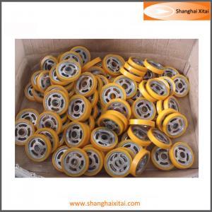 China Weaving Machine Casting PU wheel wholesale