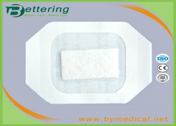Quality Medical Care PU Film IV Wound Dressing With Absorbent Pad And CCK Paper Frame for sale