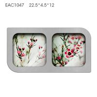 China Handmade Mirrored Picture Frames Two Pcs / Concrete Personalized Picture Frames on sale
