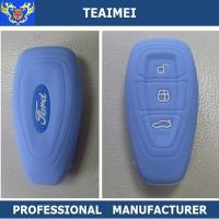 China Fancy Colorful BLUE Remote Silicone Car Key Case For Ford Mondeo wholesale