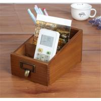 China Three Compartment Wood Desk Organizer For Home Sundries Storage wholesale