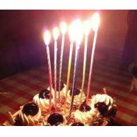 Buy cheap Spiral Core Tall Skinny Cake Candles For Wedding / Festival / Anniversary Decor from wholesalers