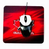 China Mouse Pad, Available in Various Colors and Designs, Suitable for Promotional Purpose wholesale