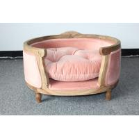 Buy cheap Nice design furniture for dogs oak wood frame dog house good cushion with velvet fabric dog house from wholesalers