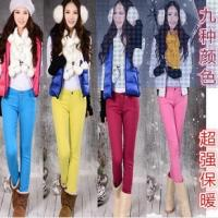 Buy cheap winter fashion young girl colorful fit pencil jeans stretch pants china factory wholesales from wholesalers