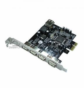 China Fully plug 4 Ports USB 3.0 PCI Cards with PCI Express Base 480Mbps wholesale