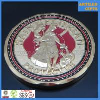 China Free proof quality guaranteed Saint Florian protect us fire fighter prayer coin wholesale