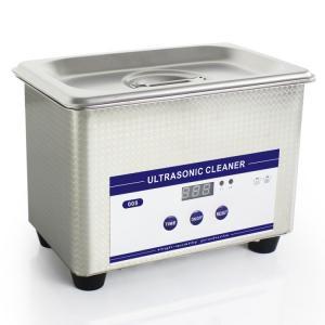 China 0.8L Heated Ultrasonic Eyeglass Cleaner Stainless Steel Dental Ultrasonic Cleaner wholesale