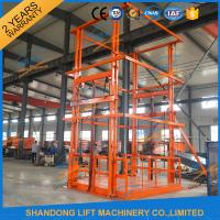 China 5T 6m Warehouse Hydraulic Guide Rail Freight Lift Elevator Vertical Goods Lift With CE TUV on sale