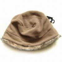 China Bucket Hat with Faux Fur on Bottom wholesale