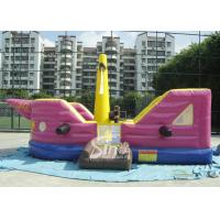 China 7x4 meters children pirate ship inflatable bouncer with EN14960 certified made of lead free material wholesale