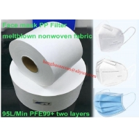 China One Layer BFE99 PFE95 Melt Blown Nonwoven Fabric For PP Face Mask Filter on sale