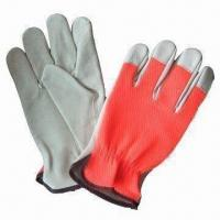 China grain cow leather safety glove for hand protection  on sale