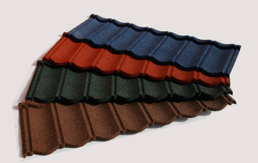 Water Proof Stone Coated Metal Roof Tiles Lightweight Roofing Material