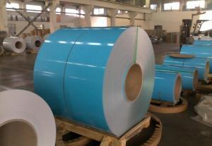 China Dx51d PE PVC Plastic Film PPGI PPGL Prepainted Galvanized Steel Coils on sale