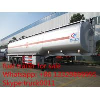 China carbon steel 55,000L fuel trailer for sale, factory sale best price CLW 38.5tons gasoline tank trailer for sale wholesale