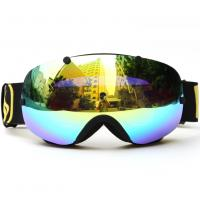 China Anti Glare Snow Ski Goggles , Mirror Lens Snowboard Goggles Oversized Double Spherical Lens wholesale
