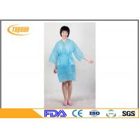China Pink Lightweight Disposable SPA Products Bathrobes / Bathroom Robe Sauna Suit Gown wholesale