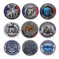 China Army Badges Fabric Sew On Cloth Custom Woven Patches Polyester Laser Cut Border wholesale