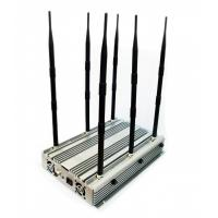 China Adjustable High Power Desktop 2G 3G 4G Phone Jammer Up to 100 Meters 70W on sale