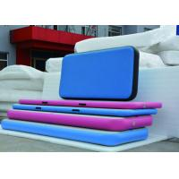 China Colorful DWF Inflatable Air Track Gymnastics 10*1.95*0.1m Good UV Resistance wholesale