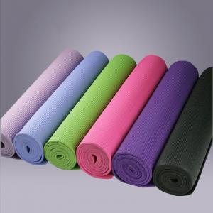 China Comfortable Safety PVC Yoga Mats 24 x 68 , Environmentally Friendly wholesale