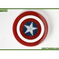 China Captain America 2A Qi Wireless Charging Pad For Cell Phones 18 * 97mm wholesale