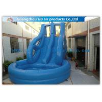 China Tropical Swiming Pool Huge Inflatable Water Slides For Rent In Hot Summer Games wholesale