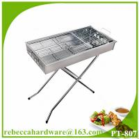China Foldable stainless steel charcoal barbecue grill wholesale
