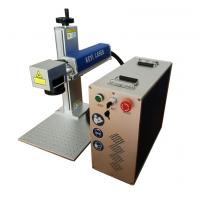 China Mopa Mini Portable Fiber Laser Marking Machine On Stainless Steel Colorful wholesale