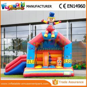 China Le clown de glissière gonflable Moonwalk de videur rouge/jaune mini badine le château sautant wholesale