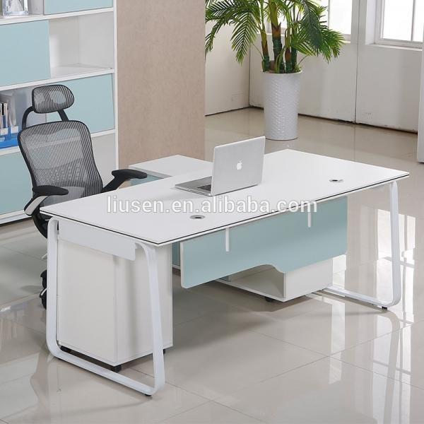 Quality Korea style modern computer furniture home office chipboard computer desk for sale