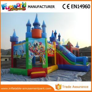 China Belle glissière gonflable de videur de Mickey Mouse pour des certifications de la CE de parc wholesale